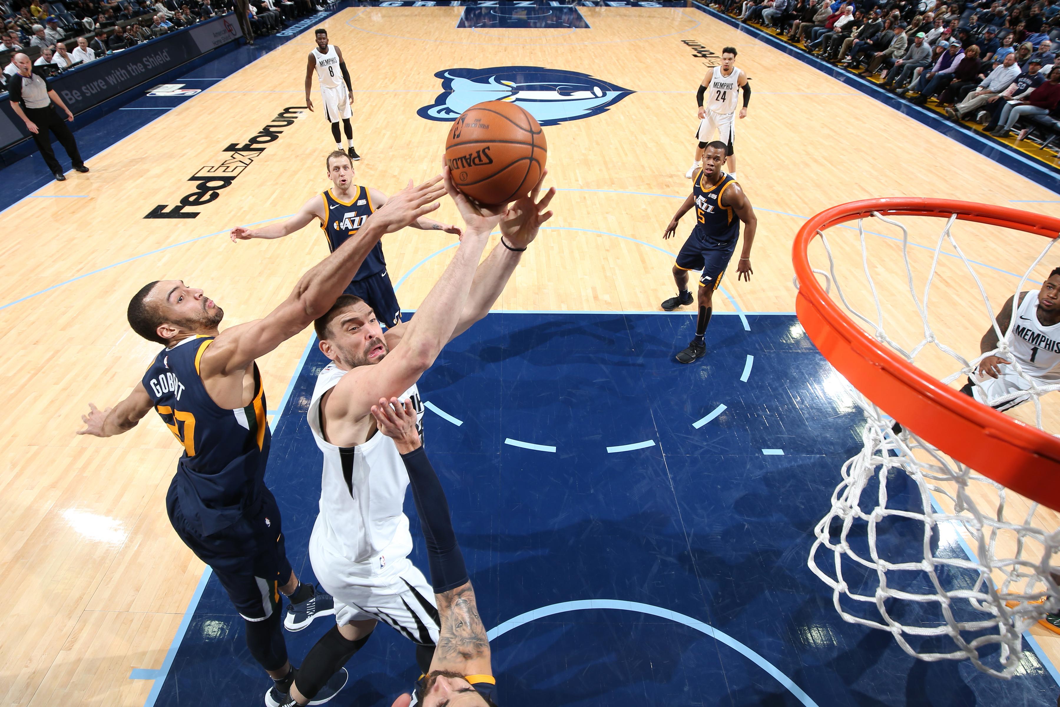 Utah Jazz Can Rudy Gobert Stifle Marc Gasol Memphis