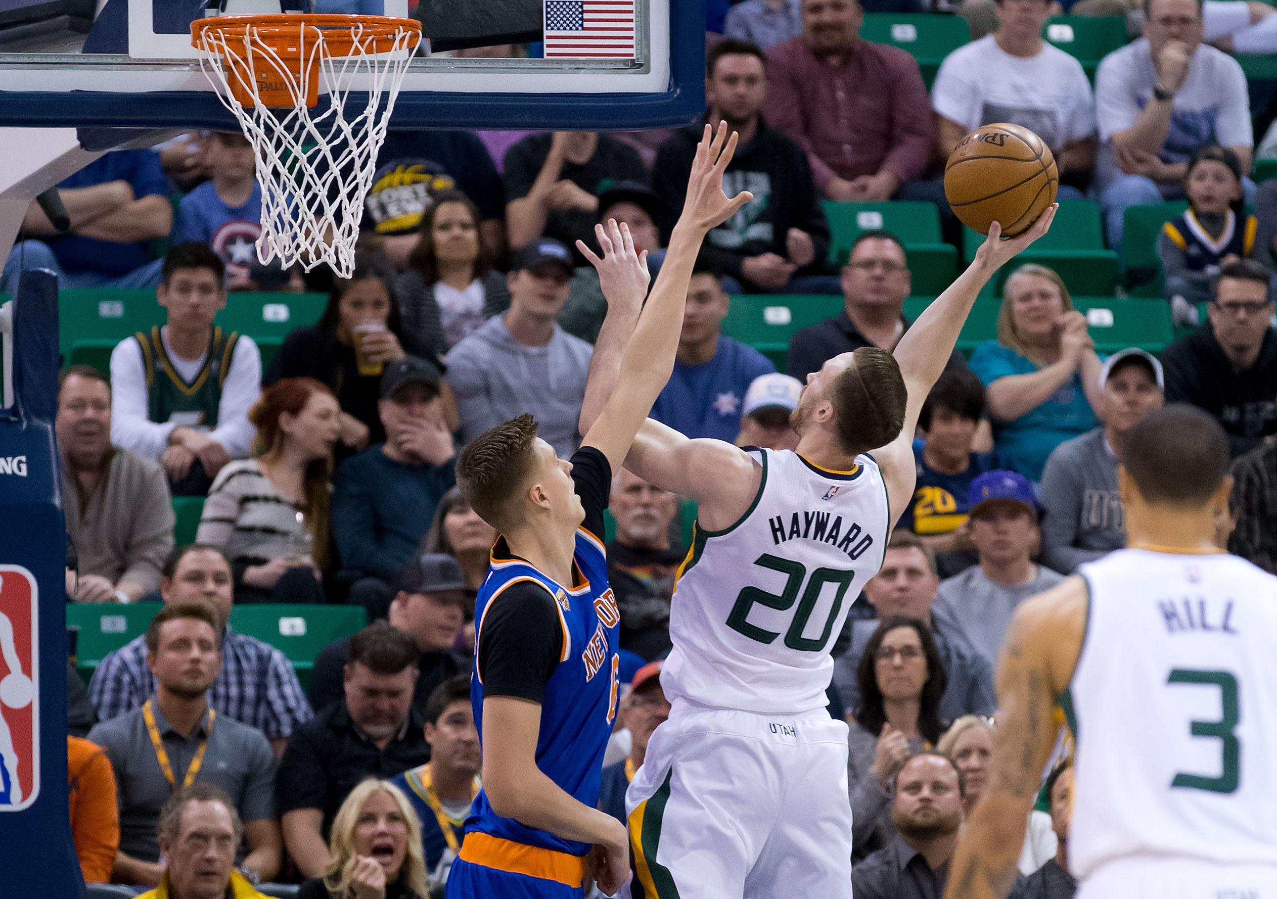 Utah Jazz Down Knicks Behind Goberts Career Night - Ut usa